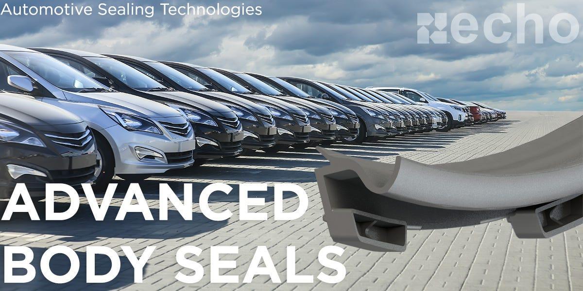 Compression molding automotive door seals