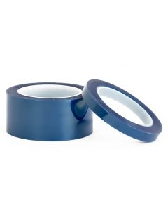 Echo blue poly taped used to mask uneven and curved surfaces during powder coating
