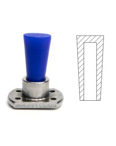 Colored tapered plugs for powder coating