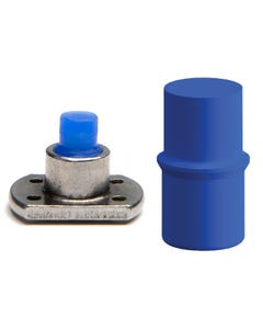Silicone thread plugs mask the leading thread of a blind threaded hole during powder coating
