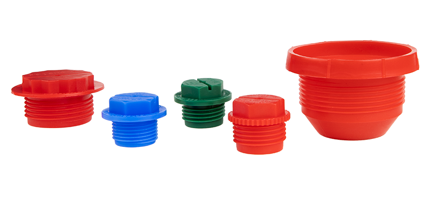 HDPE threaded plugs from Echo Engineering