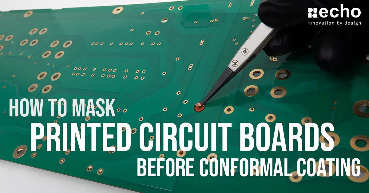 Masking a printed circuit board for conformal coating