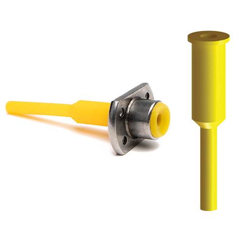 Chamfer pull plug for powder coating