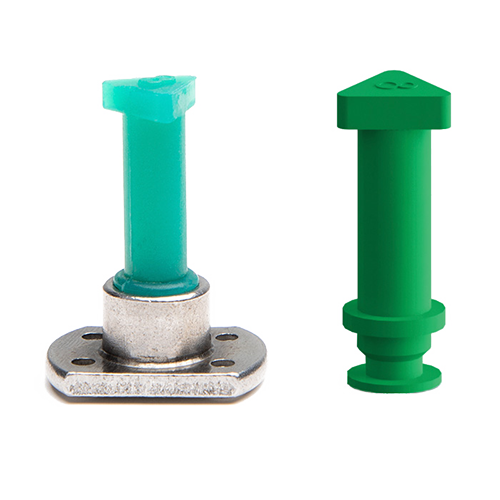 Thread push plugs for powder coating