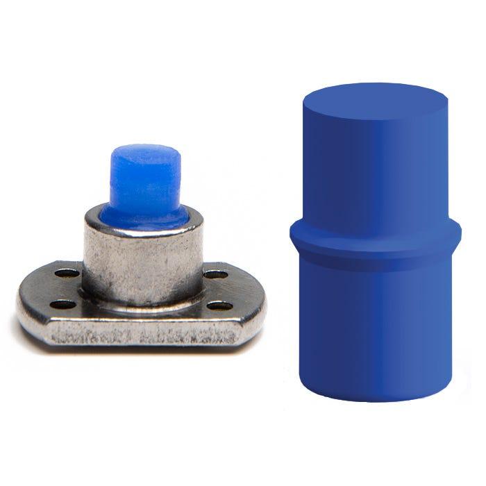 High temp thread push plugs for powder coating