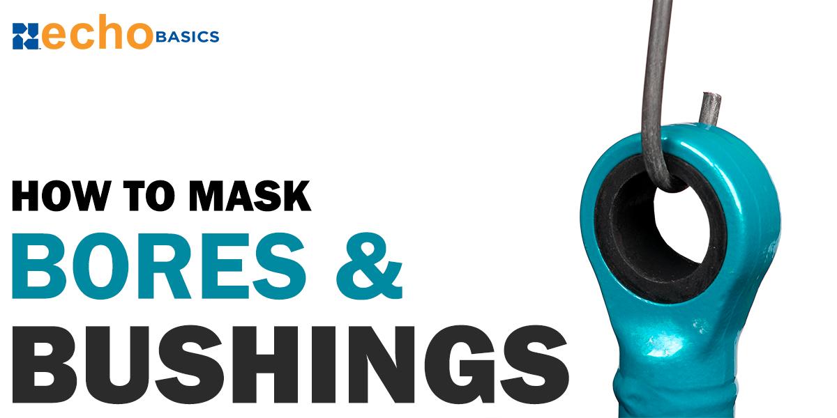Masking bores and bushing before powder coating