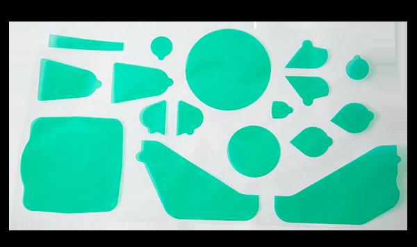 custom die-cut masking tape for powder coating