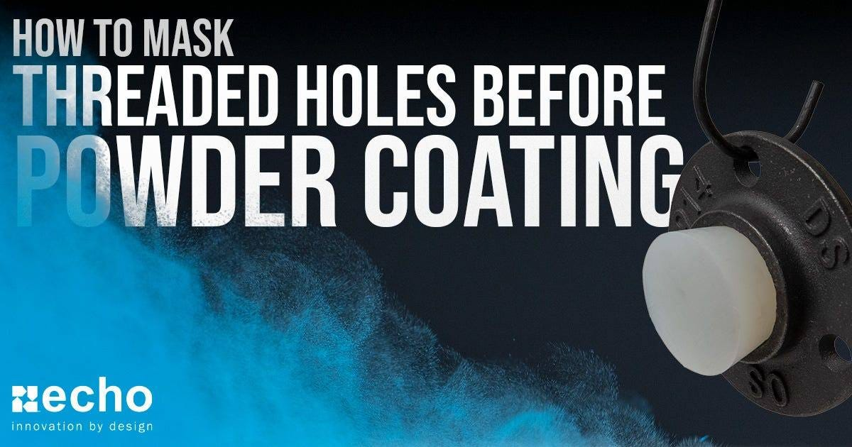 powder coating threaded holes