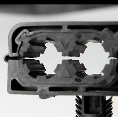 automotive line clip with nvh tpe